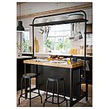 ВАДХОЛЬМА Вешалка для кухонного островка, черный, фото 2