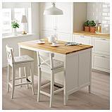 ТОРНВИКЕН Кухонн стол-остров, белый с оттенком, дуб, фото 2