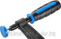 """Струбцина ЗУБР """"ПРОФЕССИОНАЛ"""", тип """"F"""", двухкомпонентная ручка, стальная закаленная рейка, 50х200мм, фото 3"""