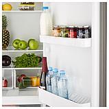НЕДИСАД Холодильник/ морозильник, серебристый, фото 5