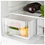 НЕДИСАД Холодильник/ морозильник, серебристый, фото 6