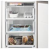 НЕДИСАД Холодильник/ морозильник, серебристый, фото 7
