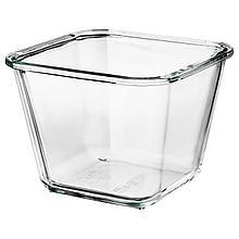 ИКЕА/365+ Контейнер для продуктов, четырехугольной формы, стекло