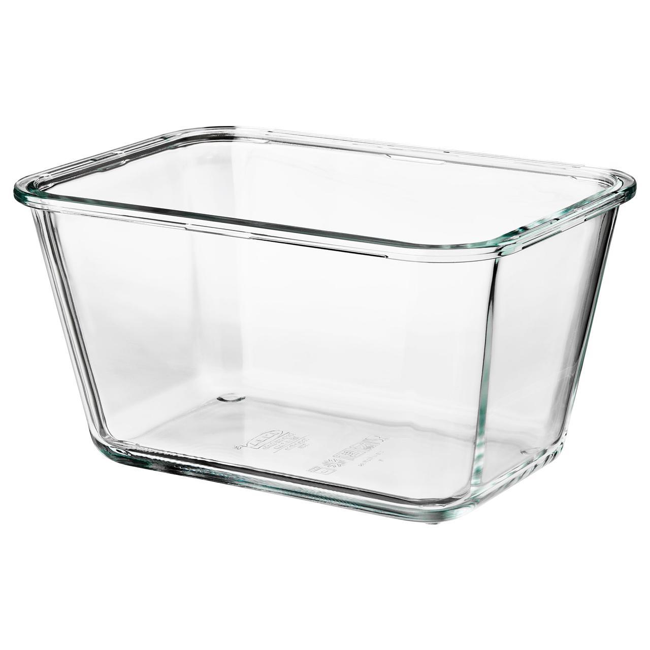 ИКЕА/365+ Контейнер для продуктов, прямоугольн формы, стекло