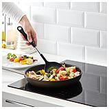 ИКЕА 365+ ЙЭЛТЕ Лопаточка для вока-сковороды, нержавеющ сталь, черный, фото 2