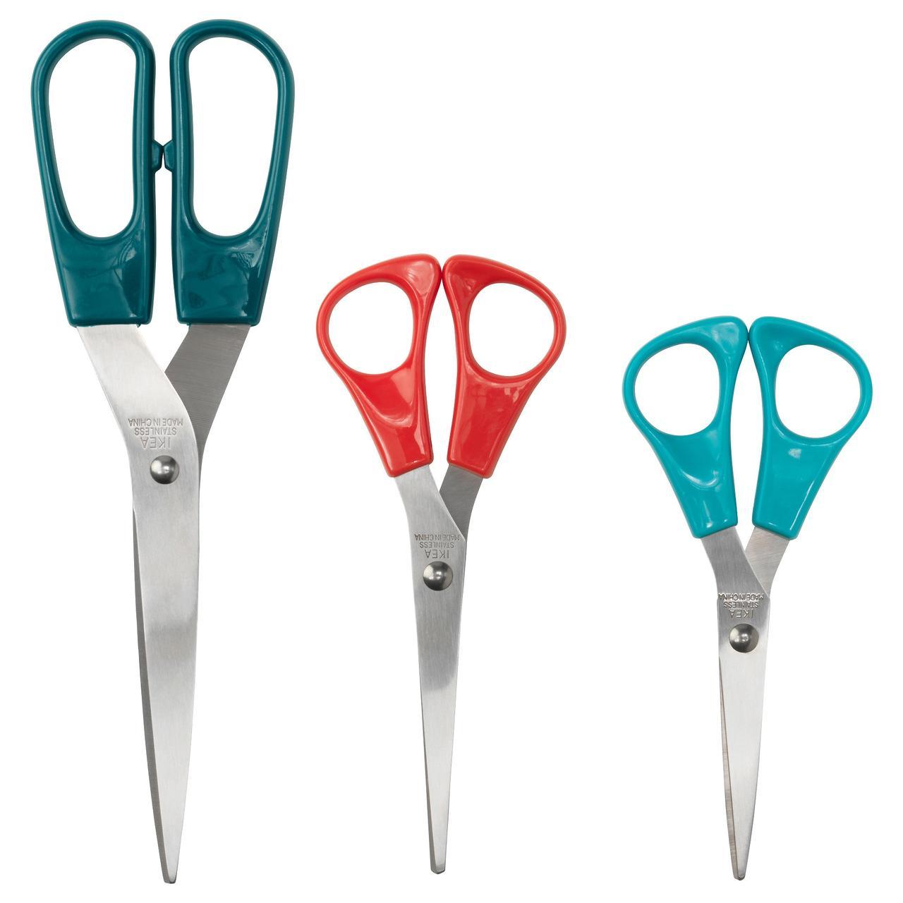 ТРОЙКА Ножницы,3 штуки, разноцветный