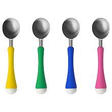ЧОСИГТ Ложка для мороженого, желтый/зеленый, синий/розовый