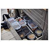 ИКЕА/365+ Контейнер для продуктов с крышкой, прямоугольн формы, пластик, фото 2