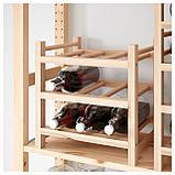 ХУТТЕН Подставка для 9 бутылок, массив дерева, фото 2