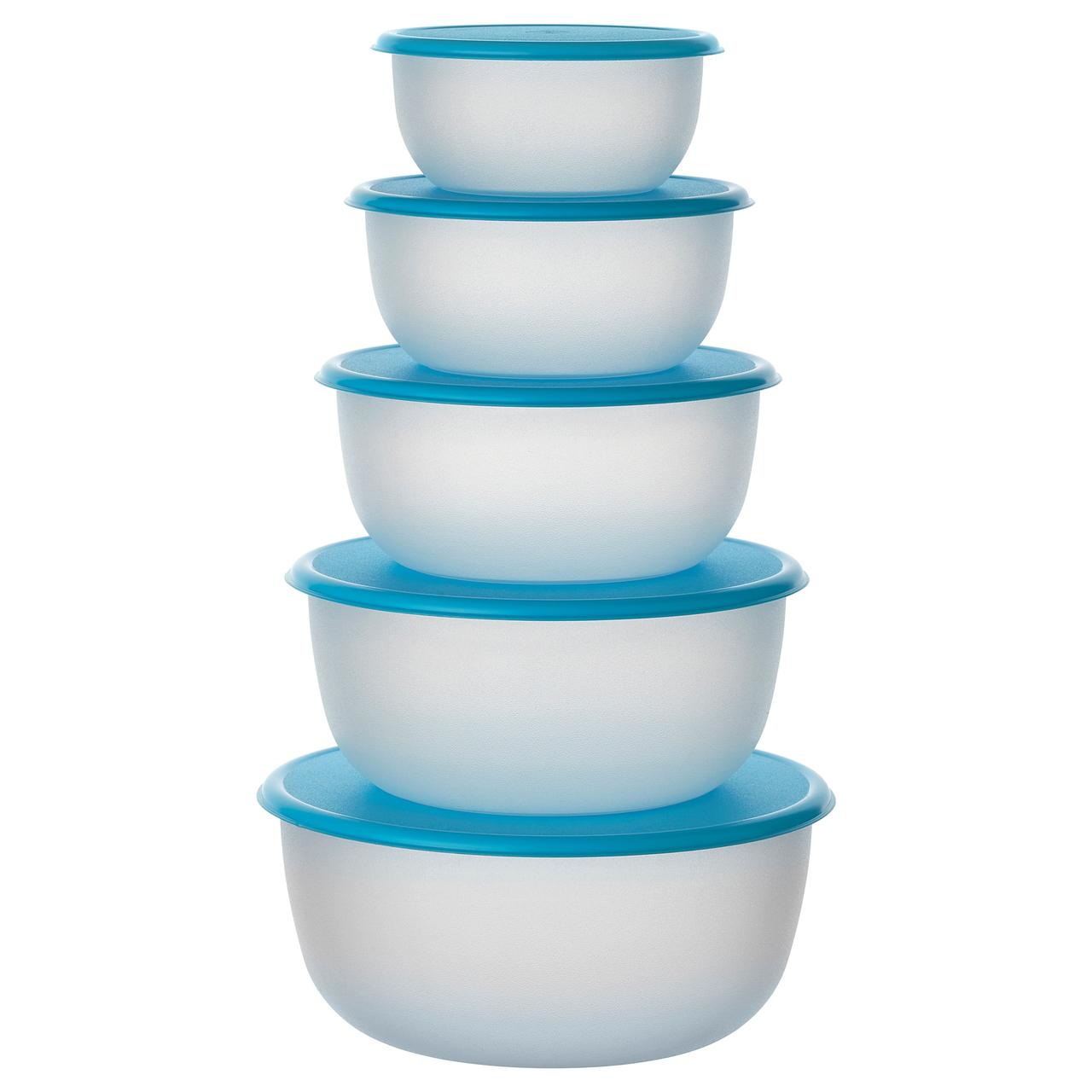 РЕДА Набор контейнеров, 5 шт., круглой формы синий