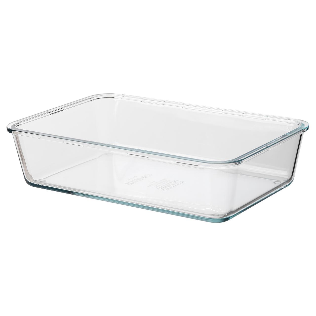 ИКЕА/365+ Контейнер для продуктов, большой прямоугольн формы, стекло