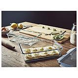 ИКЕА/365+ Контейнер для продуктов с крышкой, прямоугольн формы, стекло пластик, фото 2