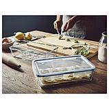 ИКЕА/365+ Контейнер для продуктов с крышкой, прямоугольн формы, стекло пластик, фото 3