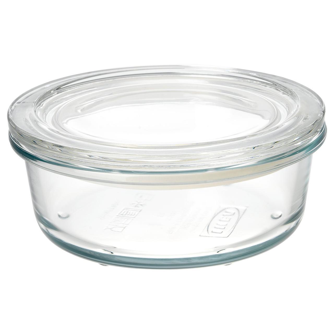 ИКЕА/365+ Контейнер для продуктов с крышкой, стекло