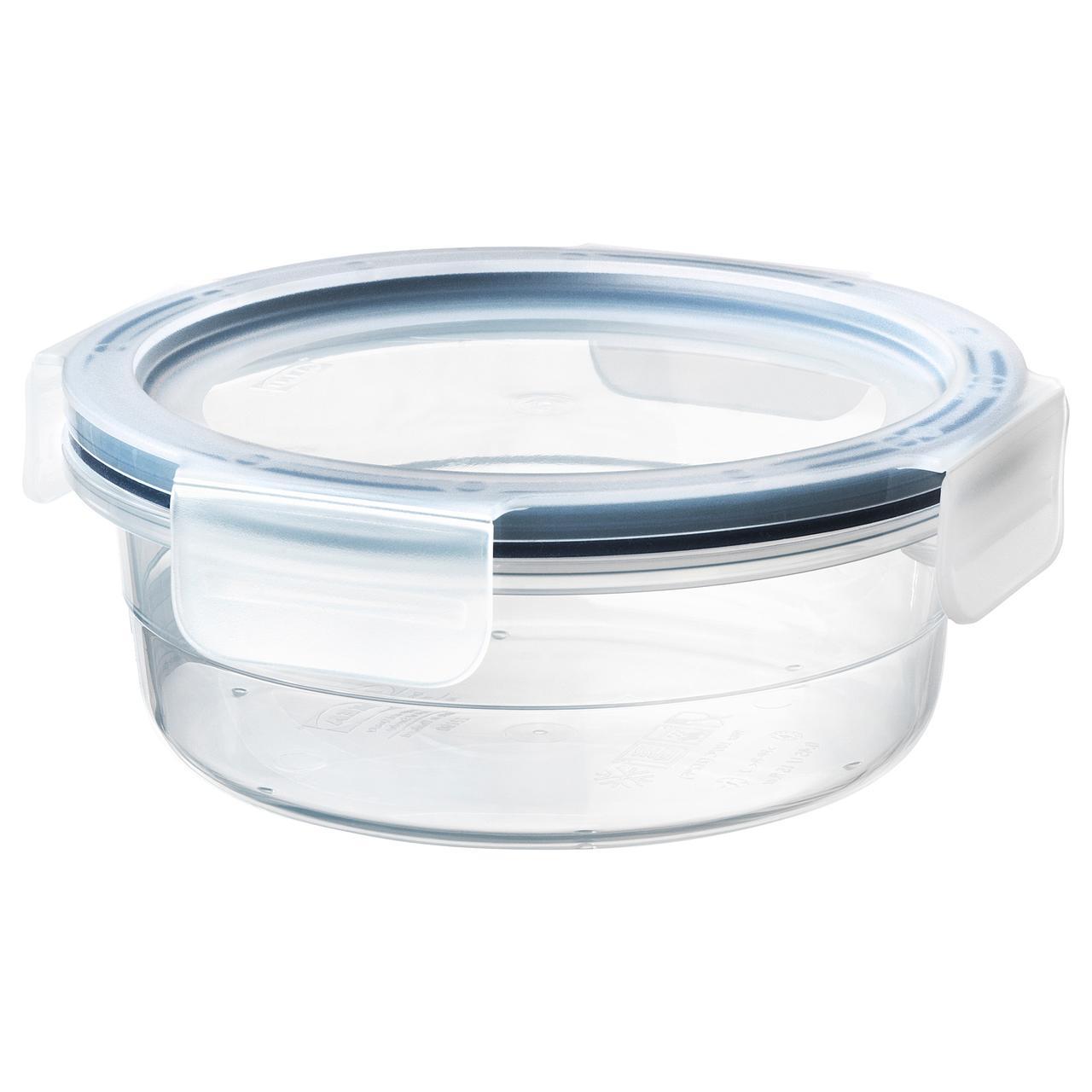 ИКЕА/365+ Контейнер для продуктов с крышкой, круглой формы, пластик
