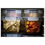 ИКЕА/365+ Контейнер для продуктов с крышкой, прямоугольн формы стекло, пластик стекло, фото 2