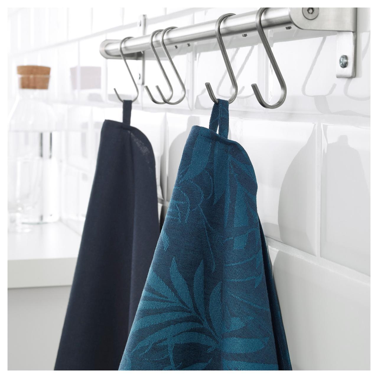 ВИЛДКАПРИФОЛ Полотенце кухонное, синий лист