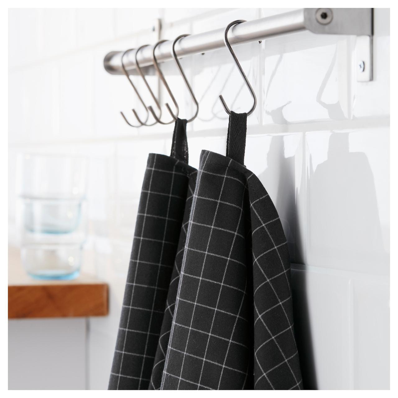 ИКЕА/365+ Полотенце кухонное, черный