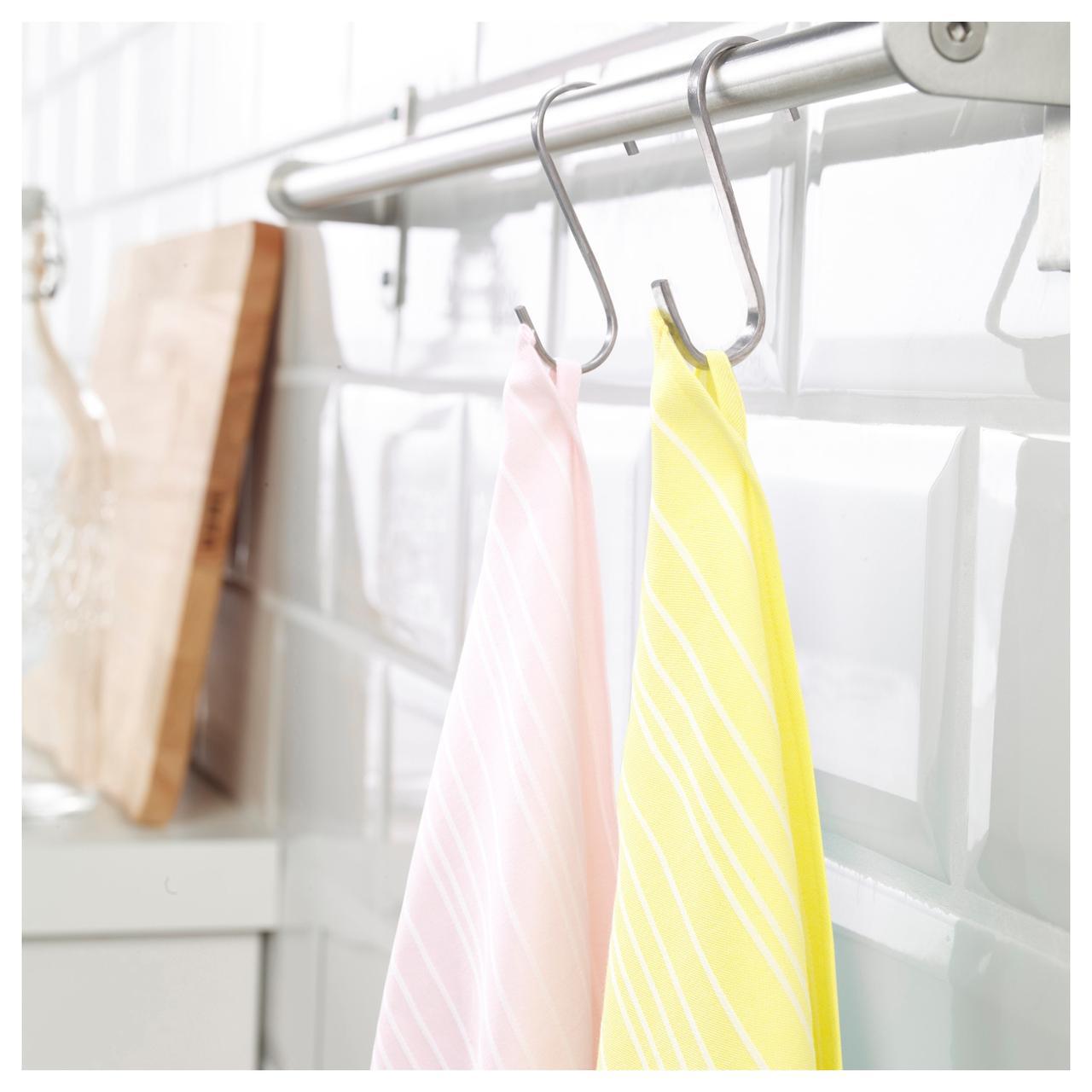ТИМВИСАРЕ Полотенце кухонное, желтый, светло-розовый