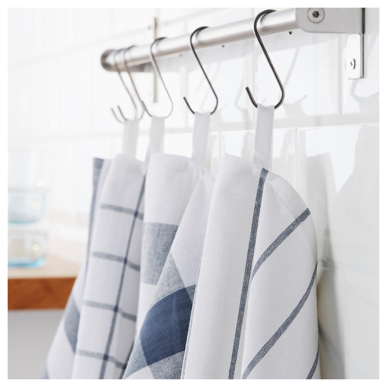 ЭЛЛИ Полотенце кухонное, белый, синий