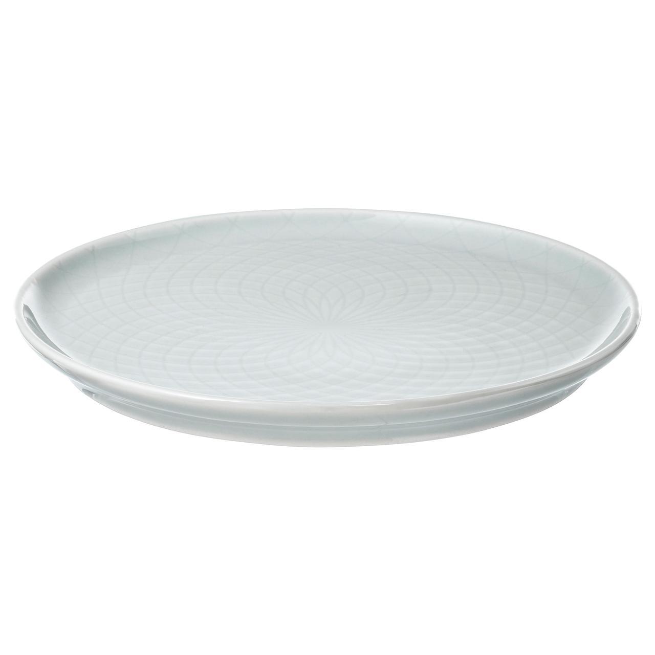 КРУСТАД Тарелка десертная, светло-серый