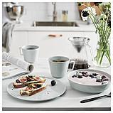 КРУСТАД Тарелка десертная, светло-серый, фото 4
