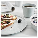 КРУСТАД Тарелка десертная, светло-серый, фото 6
