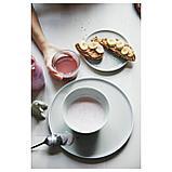 КРУСТАД Тарелка десертная, светло-серый, фото 9