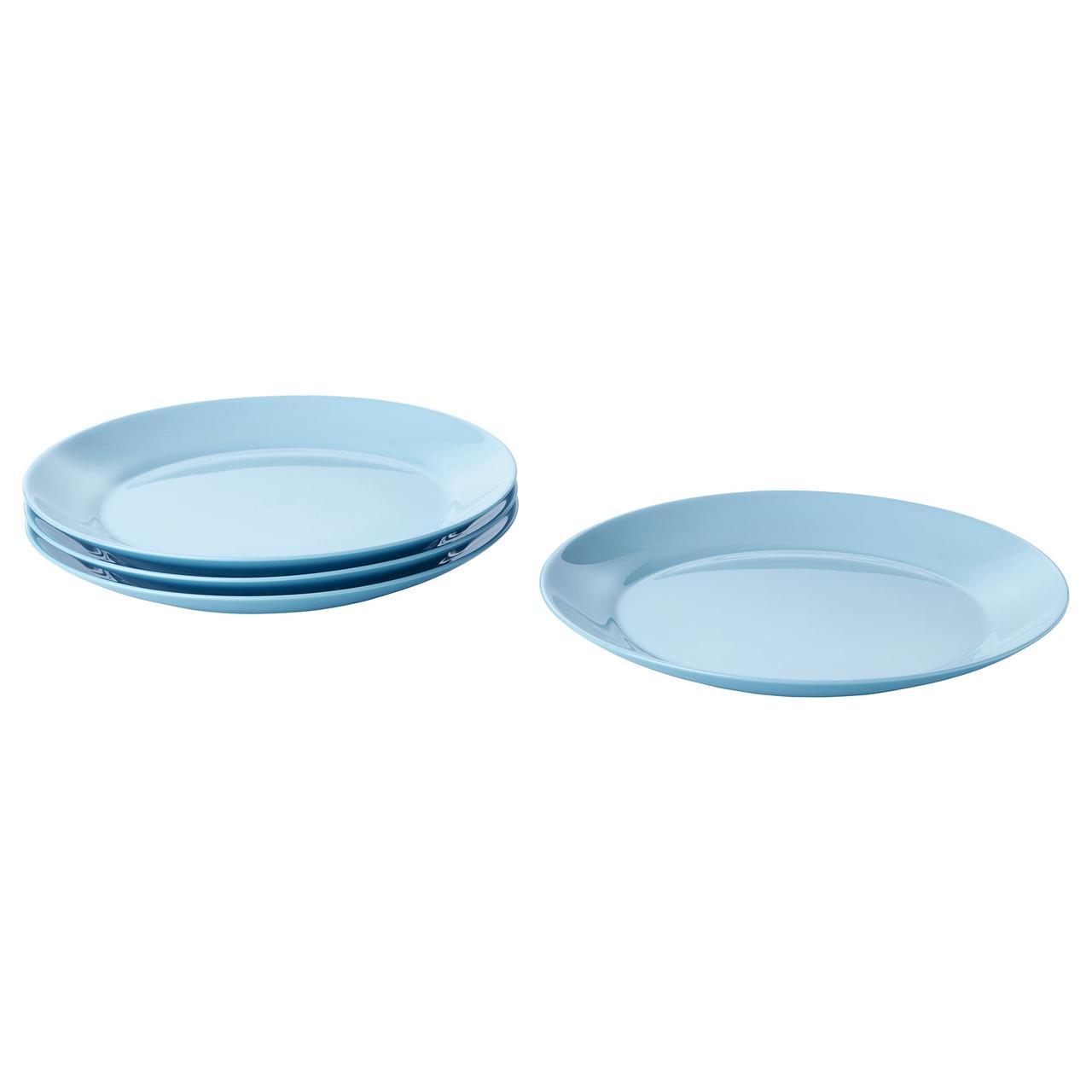 БЕСЕГРА Тарелка десертная, голубой