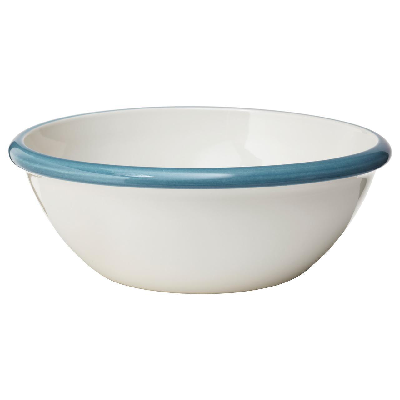 ФИНСТИЛТ Сервировочная миска, белый с оттенком, синий