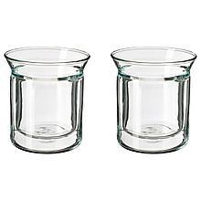 АВРУНДАД Стакан, двуслойные стенки, прозрачное стекло