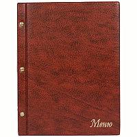 """Папка """"Меню"""" с 10 вварными файлами ДПС, 250*320, ПВХ, коричневый, инд. упаковка"""