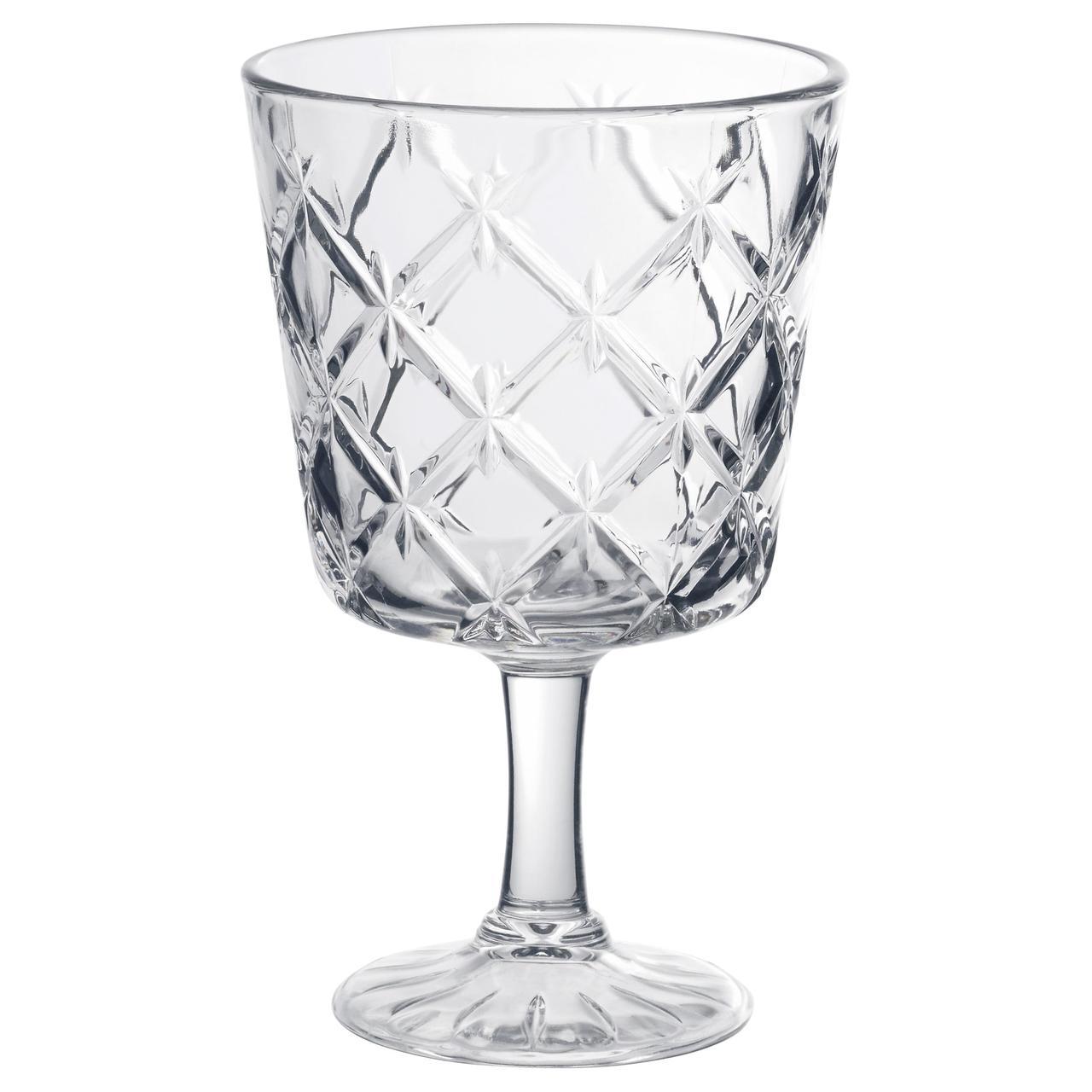 ФЛИМРА Бокал, прозрачное стекло, с рисунком
