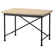 КУЛЛАБЕРГ Письменный стол, сосна, черный