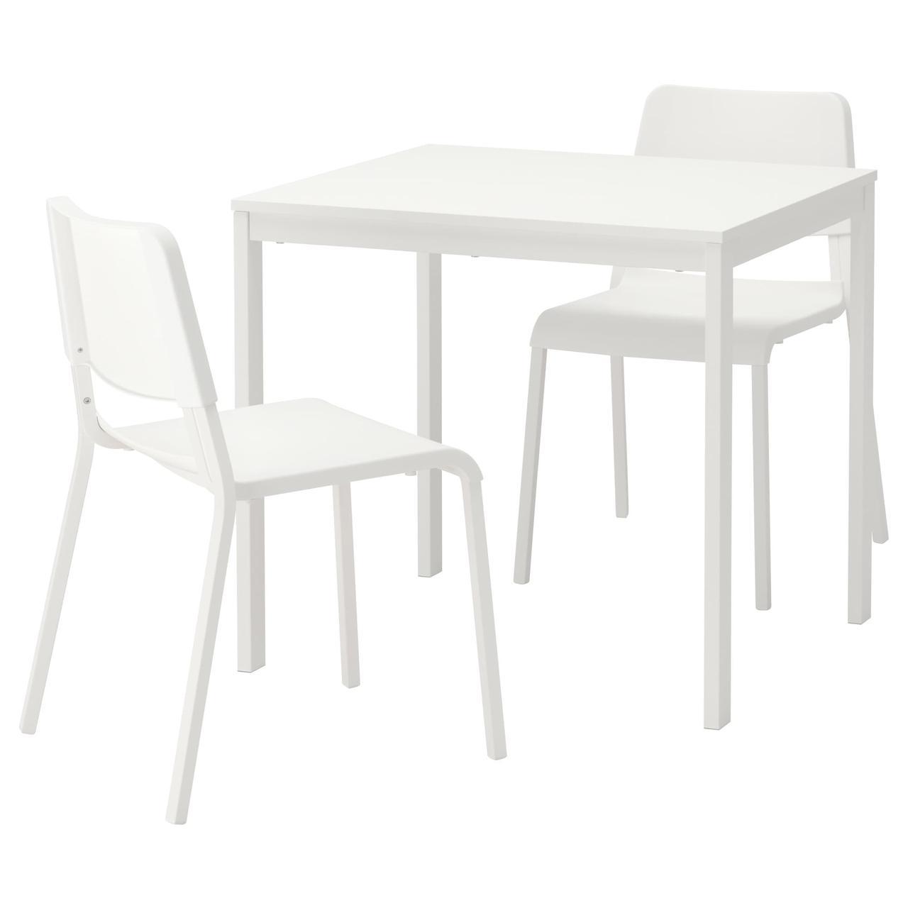 ВАНГСТА / ТЕОДОРЕС Стол и 2 стула, белый, белый
