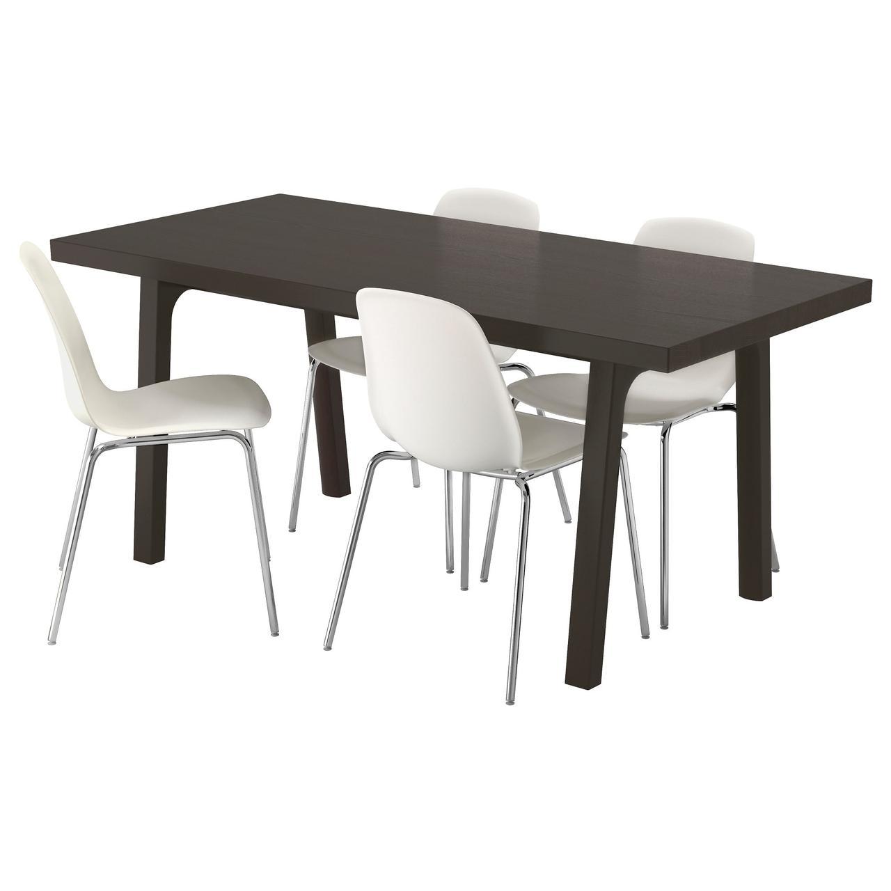 ВЭСТАНБИ/ВЭСТАНО / ЛЕЙФ-АРНЕ Стол и 4 стула, темно-коричневый, белый