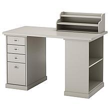 КЛИМПЕН Стол, светло-серый серый