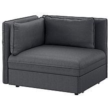 ВАЛЛЕНТУНА Модульный диван-кровать, Хилларед темно-серый