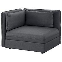 ВАЛЛЕНТУНА Секция дивана со спинкой, Хилларед темно-серый