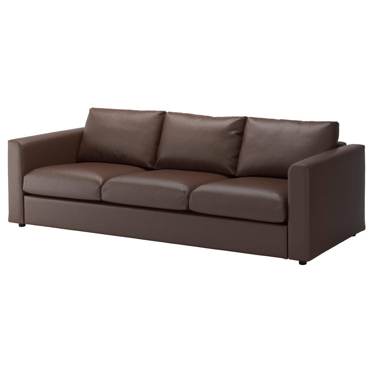 ВИМЛЕ 3-местный диван, Фарста темно-коричневый