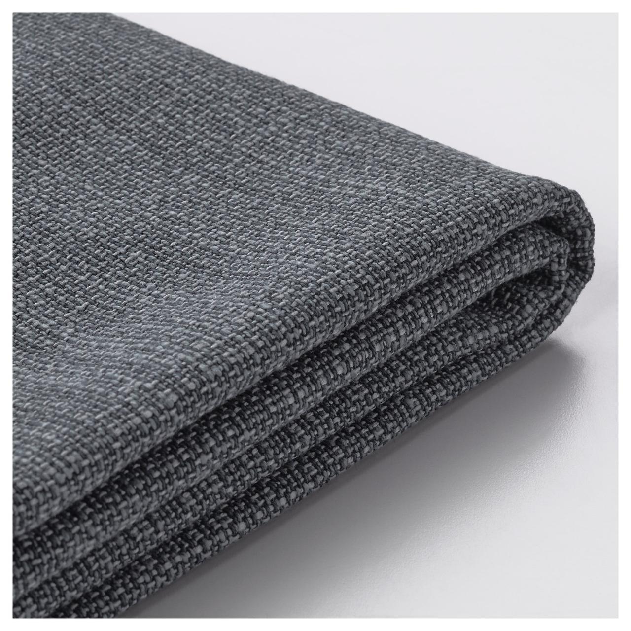 ВАЛЛЕНТУНА Чехол секции дивана-кровати, Хилларед темно-серый