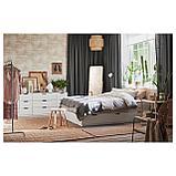 НОРДЛИ Каркас кровати с ящиками, белый, фото 5