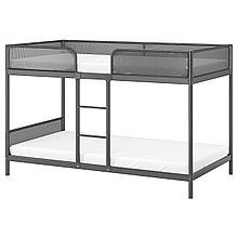 ТУФФИНГ Каркас 2-ярусной кровати, темно-серый