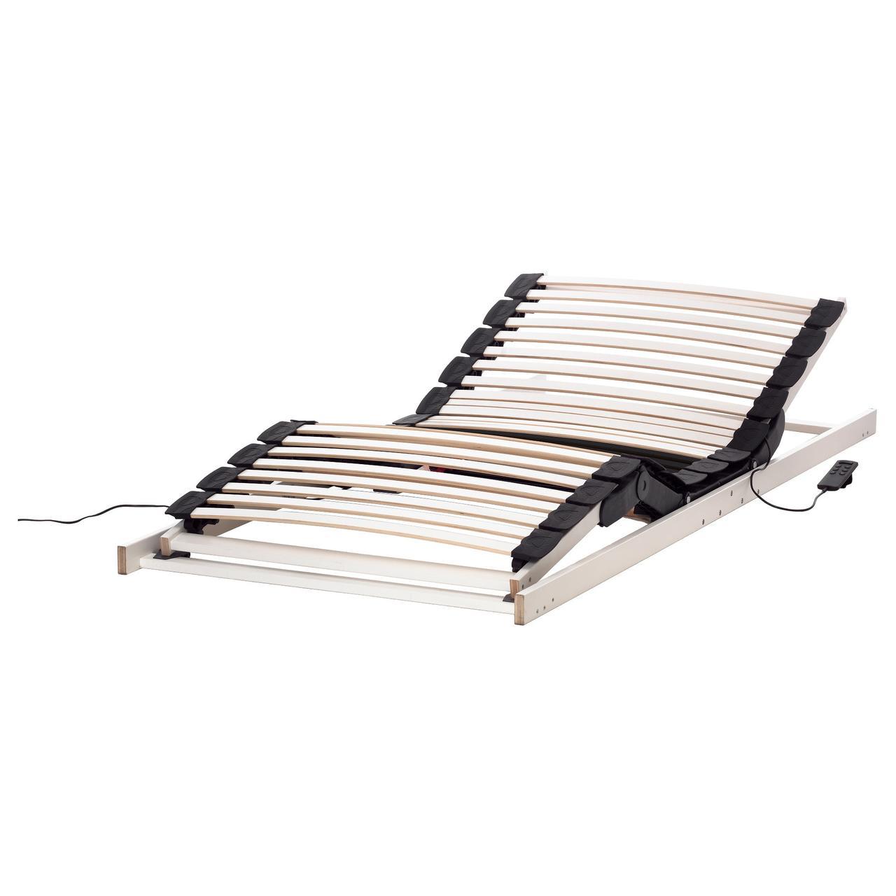 ЛАКСЕВОГ Регулируемое реечное дно кровати, белый