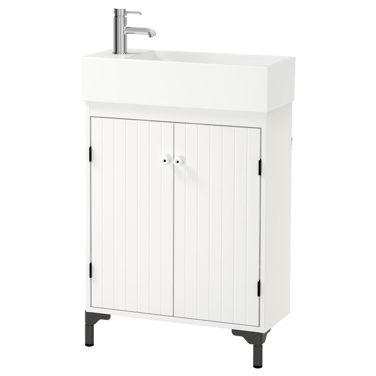 СИЛВЕРОН / ЛИЛЛОНГЕН Шкаф под раковину с 2 дврц, белый