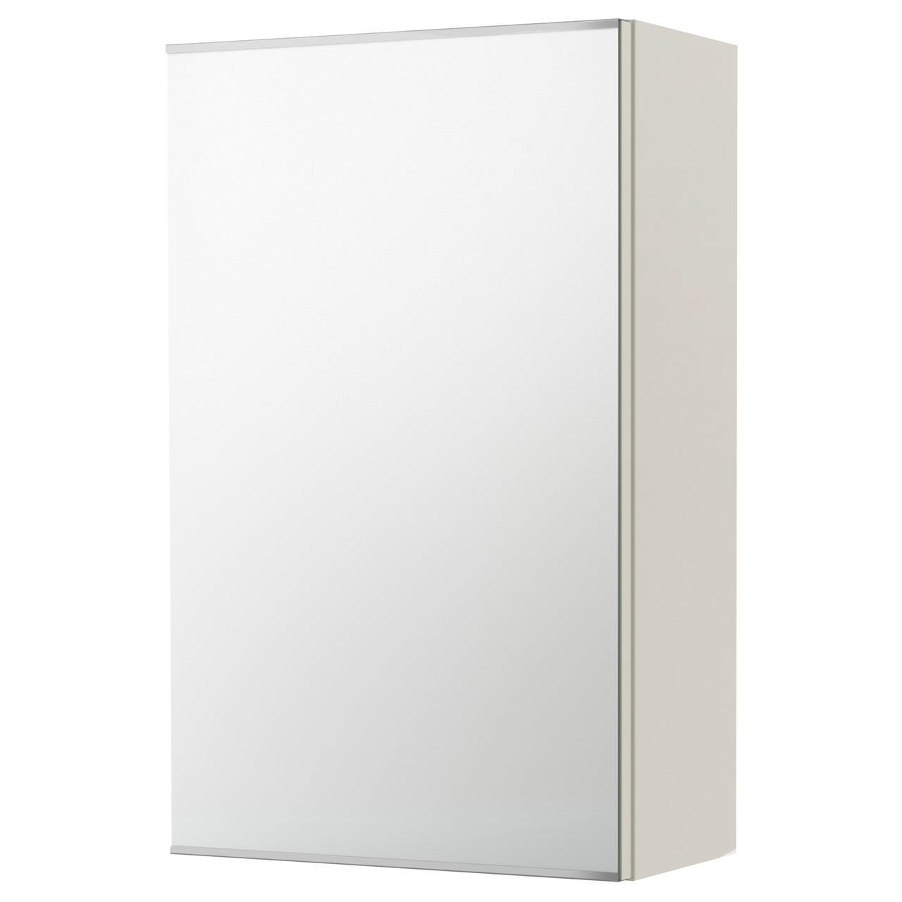 ЛИЛЛОНГЕН Зеркальный шкаф с 1 дверцей, белый