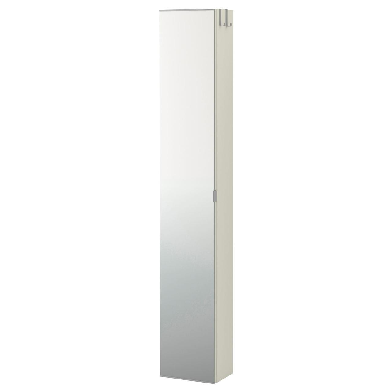 ЛИЛЛОНГЕН Высокий шкаф с зеркальной дверцей, белый