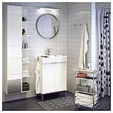 ЛИЛЛОНГЕН Высокий шкаф с зеркальной дверцей, белый, фото 4
