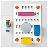 ЛОДДАН Панель с аксессуарами,6предм., с присосками, разные цвета разные цвета, фото 6
