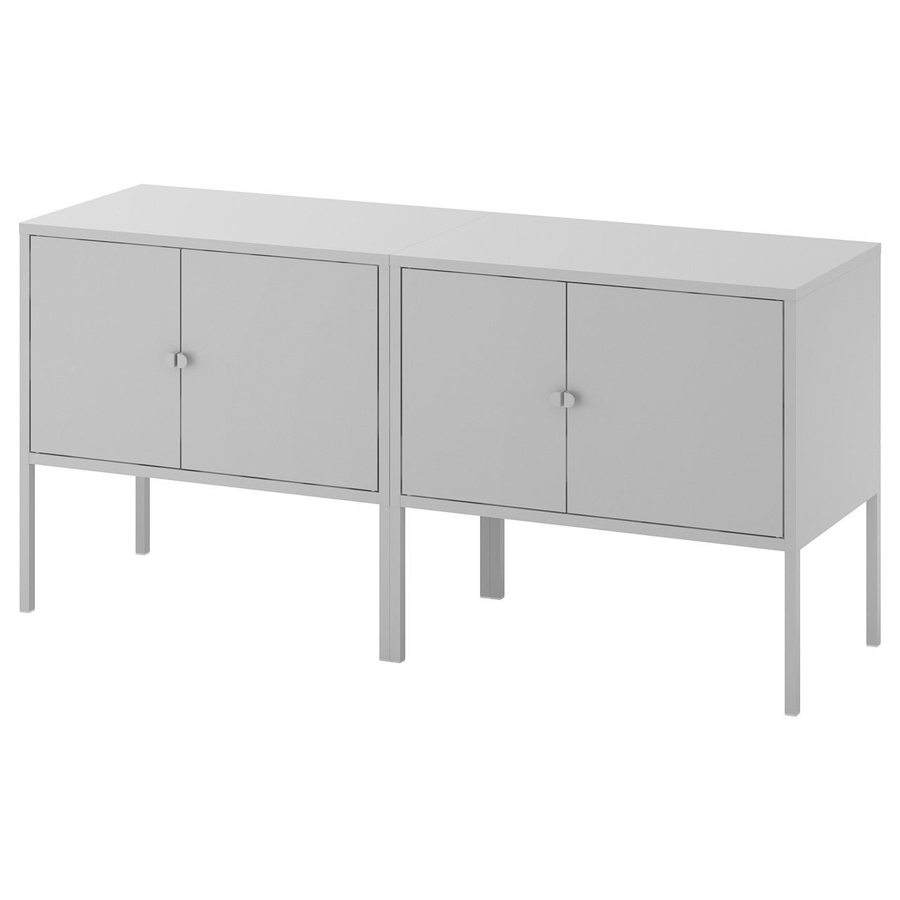 ЛИКСГУЛЬТ Комбинация шкафов, серый